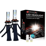 9005(HB3) Copper Braid LED Headlight Bulbs - Super Bright High Beam Conversion Kit with T10 x2