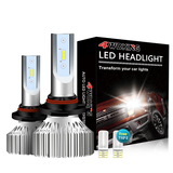9005(HB3) LED Headlight Bulbs - Super Bright High Beam Conversion Kit with T10 x2