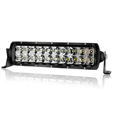 10 Inch LED Off Road Light Bar Dual Row - IP68&IP69K Waterproof Spot Flood Comb Lights