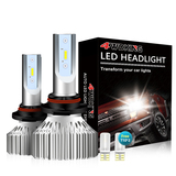 9006(HB4) LED Headlight Bulbs - Super Bright Low Beam Conversion Kit with T10 x2