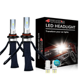 9006(HB4) Copper Braid LED Headlight Bulbs - Super Bright Low Beam Conversion Kit with T10 x2