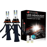9007(HB5) Copper Braid LED Headlight Bulbs - Super Bright High/Low Beam Conversion Kit with T10 x2