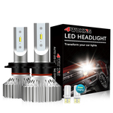 H7 LED Headlight Bulbs - Super Bright Low Beam Conversion Kit with T10 x2
