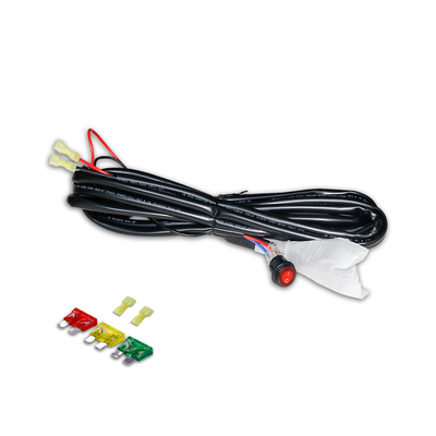 1 Lead LED Light Bar Wiring Harness - Fuse 12V40A Relay On-off Waterproof Switch