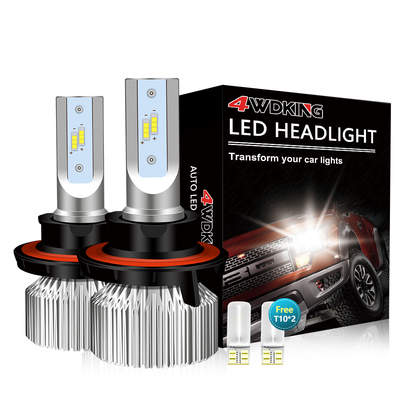 H13(9008) LED Headlight Bulbs - Super Bright High/Low Beam Conversion Kit with T10 x2