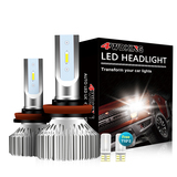 H8/9/11 LED Headlight Bulbs - Super Bright Low Beam Conversion Kit with T10 x2